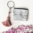 Marble loop zipper pouch