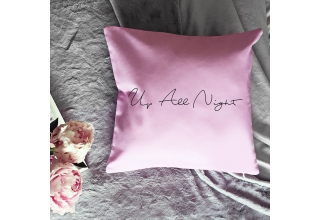Up All Night pink cushion cover