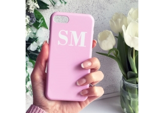 Soft Pink And White Monogram Phone Case
