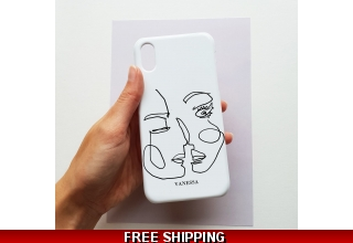 Abstract line art personalised phone case