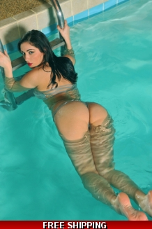 Signed Print-Carlotta in the pool!