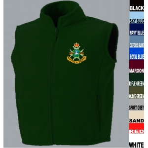 Sherwood Foresters Gilet Fleece