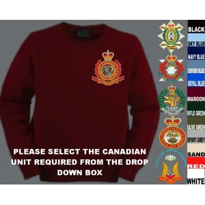 Canadian Army Crew Neck Pullover Jumper