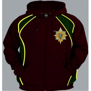 1 A WFR Regimental Colour Zip Up Hoody