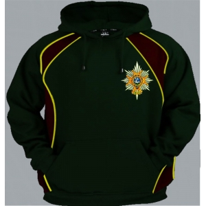 1 A WFR Regimental Colour Pullover Hoody