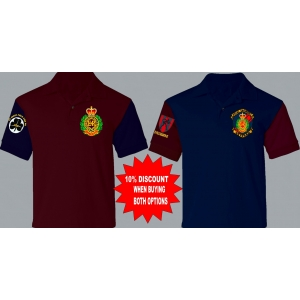 1 A RE Corps Colour Polo + TRF or othe..