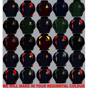 1 A Regimental Colour Pullover or Zip Up Hoody