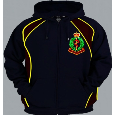 1 A RAMC Regimental Colour Pullover or Zip Up Hoody title=