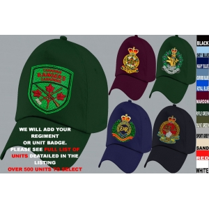 Canadian Army Units Embroidered Baseba..