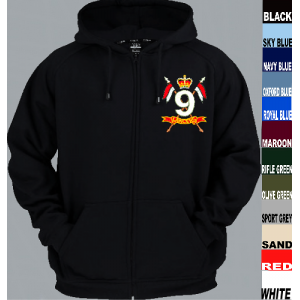 9th Lancers Full Zip Hoody