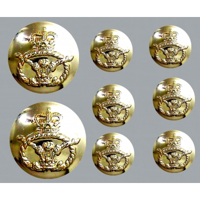 British Army Royal Air Force RAF Navy Marines Blazer Button Sets title=