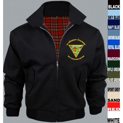 Regimental Harrington Jacket title=