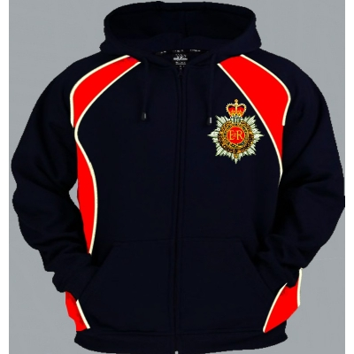1 A Regimental Colour Pullover or Zip Up Hoody title=