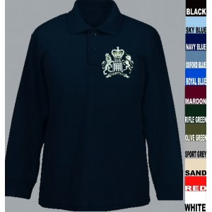 SIS MI6 Long Sleeve Polo Shirts