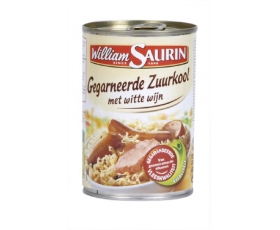 WILLIAM SAURIN  gegarneerde zuurkool, choucroute - 400gr.