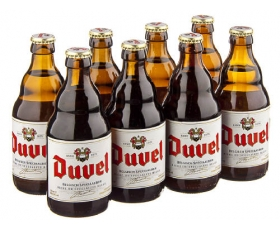 DUVEL  Belgian Beer of High Quality - 8,5 % vol alcohol - 8 x 33 cl.