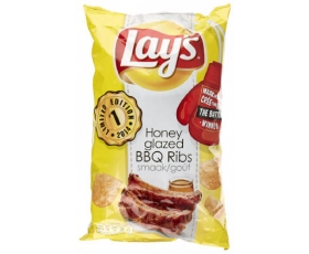 LAYS - LAY'S  chips Honey Glazed BBQ Ribs ** Limited ** - 250 gr netto.