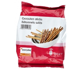EVERYDAY gezouten, salted sticks - 250 gr.