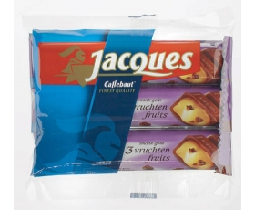 Jacques chocolade, chocolates - 3 vruchten - 3 pack, 3 x 47 gr.