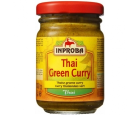 Inproba - Thai Green Curry, Oriental product and tastemaker - 100 gr netto, Thaise groene curry.