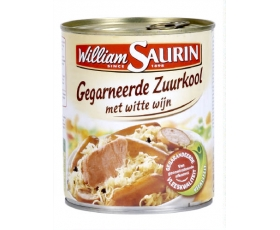 WILLIAM SAURIN  gegarneerde zuurkool, choucroute - 800gr.