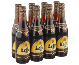 LEFFE  bruin, brown, dark - Belgian Beer - 8 x 33 cl.