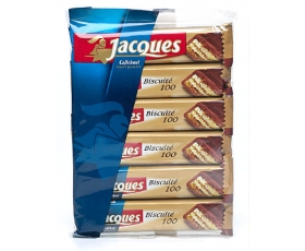 Jacques chocolade, chocolates - Biscuité 100 - 6 pack, 6 x 47 gr.