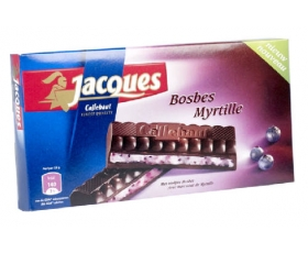 Jacques fondant Bosbes - Myrtille, tablet chocolade, chocolates - 200 gr.