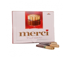 MERCI chocolade box assortiment mix of milk & dark fondant - 250 gr.