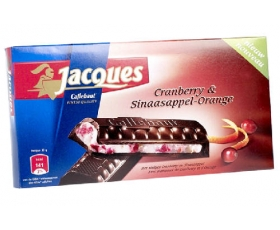 Jacques fondant Cranberry-Orange, tablet chocolade, chocolates - 200 gr.