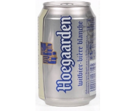 HOEGAARDEN  witbier, white beer can - 33 cl.