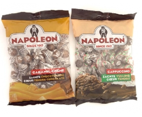 Napoleon Caramel, Capuccino Bonbon, hard outside, soft inside, not sour - 310 gr netto.