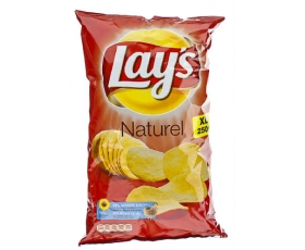 Lay's flat chips - Zout, sel, salt , naturel, natural - Xl - 250 gr. net