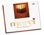 MERCI chocolade box assortiment pure, puur, dark..