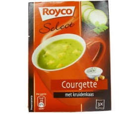 "Royco Minute Instant Soup ""Select"" : Courgette + cheese with herbs - 3 bags  zakjes."