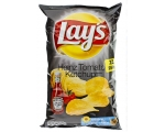Lay's flat chips - with Heinz tomato ketchup, to..