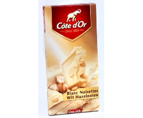 Cote D'or - Tablet white/hazelnuts ; 200 gr.