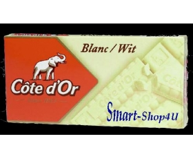 REAL BELGIAN CHOCOLAT,COTE DOR, WHITE - 400 GR, BAR