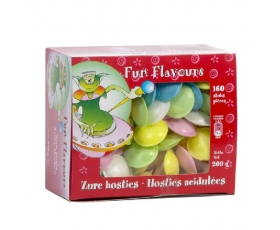 Zure hosties - Fun Flavours - Sour flying saucers 200 gr box.