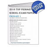 Primary 1 2016 English, Maths, Chinese