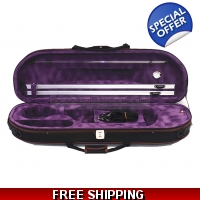 Woodnote VC-820PL Enhanced 4/4 Half-Moon Violin Case/Free German Silver String Set