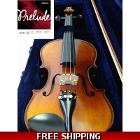New 4/4 Antique Style Violing / Ebony Accessories with Prelude Strings