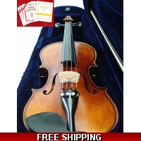 New 4/4 Antique Style Violing / Ebony Accessories with Tonica/Gold E String Set