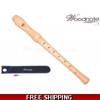 Woodnote WHO-4118B Maple Wood 8 Holes Soprano Recorder Flute
