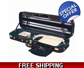 Pro. Enhanced Wooden 4/4 Violin Case / Free Extr..