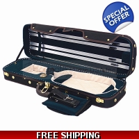 Pro. Enhanced Wooden 4/4 Violin Case / Free Extra String Set U.S Delivery Only
