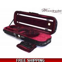 Woodnote VC-550BK Enhanced 4/4 Oblong Violin Case/Free German Silver String Set