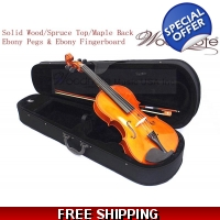 Woodnote VA-310E Solid Wood/Spruce Top/Maple Back Violin / Free German Silver String Set