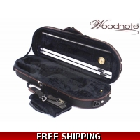 Woodnote VC-820BKH Enhanced 4/4 Half-Moon Violin Case/Free German Silver String Set