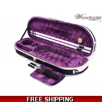 Woodnote VC-820BPL Enhanced 4/4 Half-Moon Violin Case/Free German Silver String Set